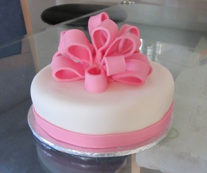 Pink Ribbon Cake Design : How to Make a Fondant Bow The Jill of all Trades