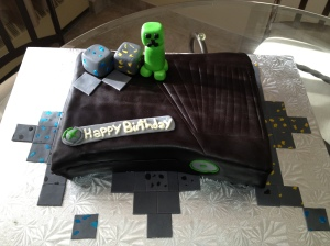 Minecraft Themed XBOX Cake