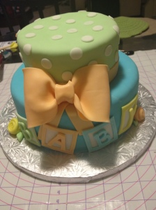 Baby Shower Bow Cake