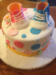 Baby Converse Shoes Cake